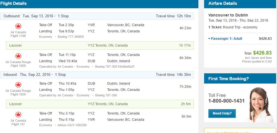 Vancouver Victoria Calgary Edmonton To Europe